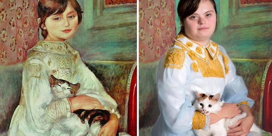 Παιδιά με σύνδρομο Down αναπαριστούν διάσημους πίνακες
